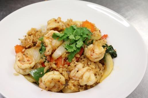 king prawn spicy rice