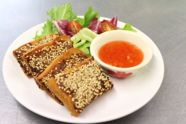 Sesame pork toast