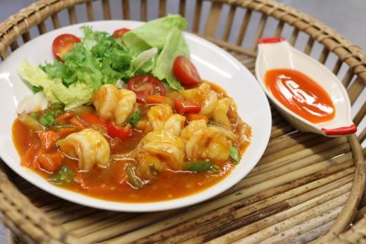 spicy Thai king prawn starter